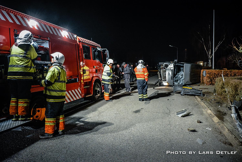 Uheld i Skærbæk. Pressefoto til Skærbæk Avis.