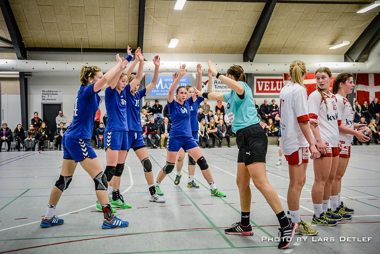 Landsholdet U18 i håndbold. Pressefoto til Skærbæk Avis