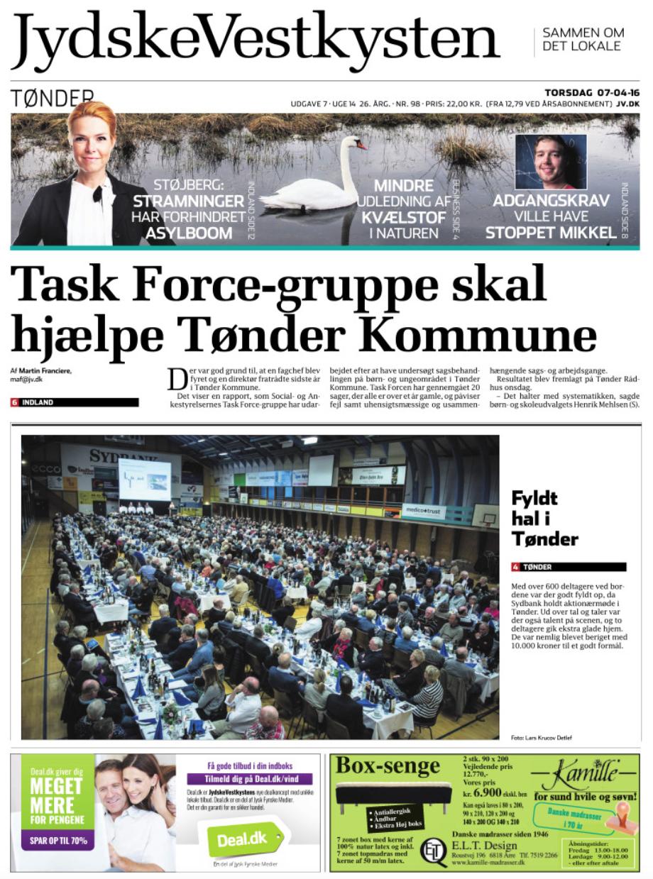 Aktionærmøde i Sydbank Tønder.