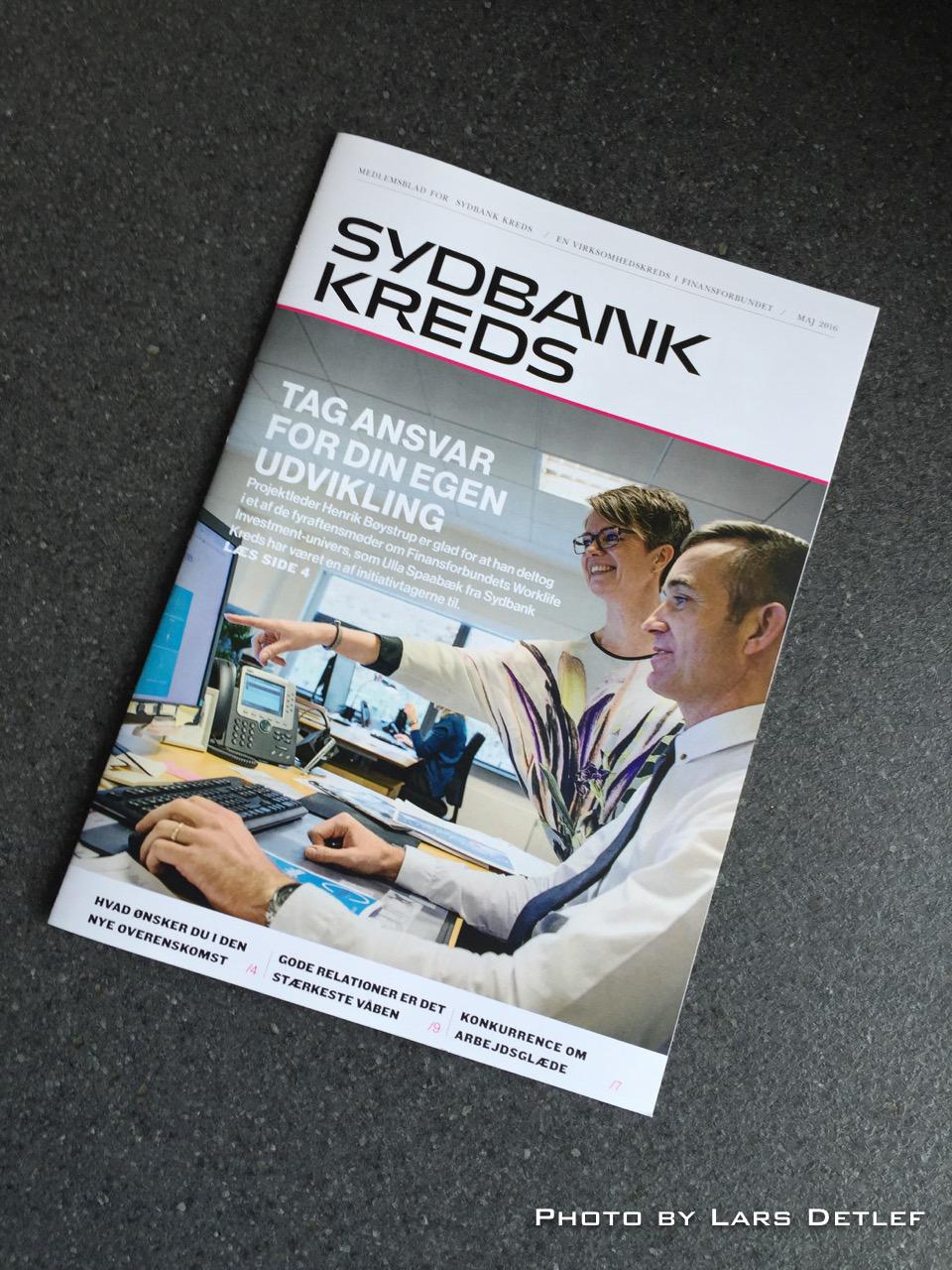 Forsiden af Sydbank Kredsens maj nummer 2016